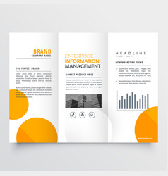 Corporate business tri-fold brochure design with vector