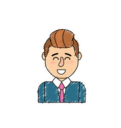 Cute man with hairstyle design and shirt vector