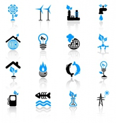 ecology concept icons vector image vector image
