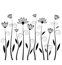 Flower silhouettes image vector
