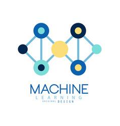 Geometric machine learning logo data mining vector