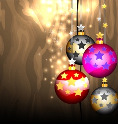 Glittering and christmas balls vector