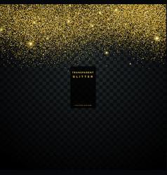 Gold glitter texture background confetti explosion vector