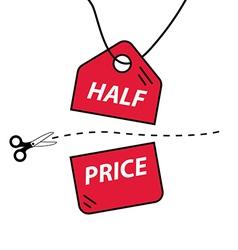 Half price cut vector image