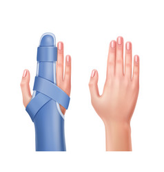 Hand with brace vector