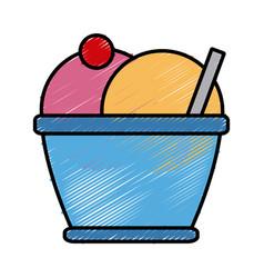 ice cream cup vector image vector image