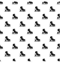 Ice skate pattern vector