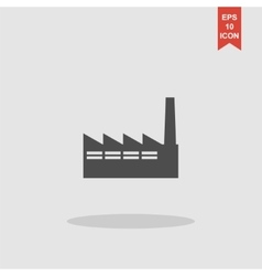 icon of factory vector image vector image