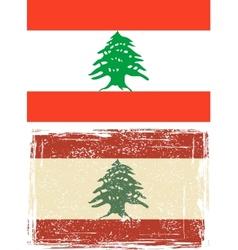 Lebanon grunge flag vector