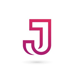 Letter j logo icon design template elements vector