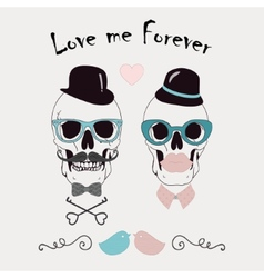 Love me forever funny vector