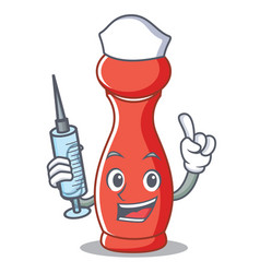 Nurse pepper mill character cartoon vector