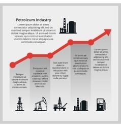 Oil price increasing price of oil vector