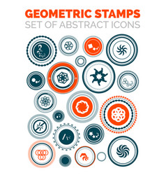 set of abstract geometric stamp icons vector image vector image