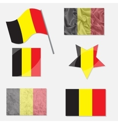 Set with Flags of Belgium vector image