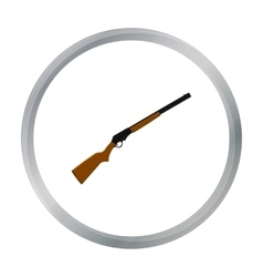 Shotgun icon cartoon singe western icon from the vector
