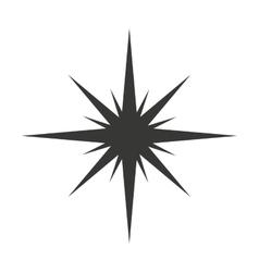 star black silhouette icon vector image