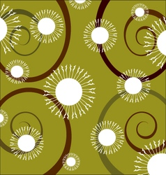 Swirl flowers background vector