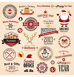 xmas labels vector image