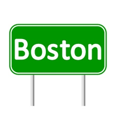 Boston green road sign vector
