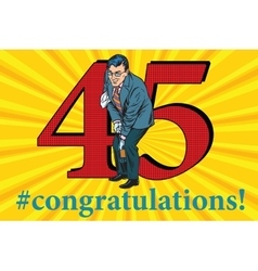 Congratulations 45 anniversary event celebration vector image