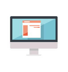 Web design of site on the monitor display isolated vector