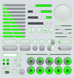 set of user interface buttons and elements - vector image