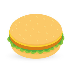 Burger isolated on white background vector