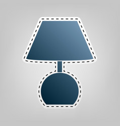 Lamp sign   blue icon with vector