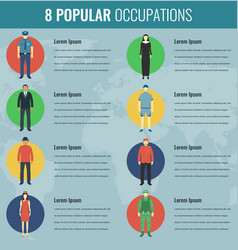 Popular occupations in the world profession icons vector