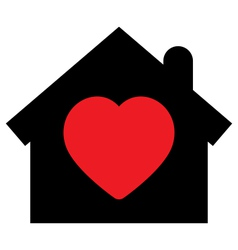 Home icon with heart vector