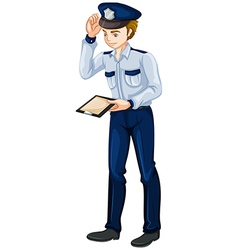A police officer vector