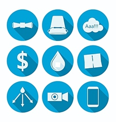 Flat icons for ice bucket challenge vector