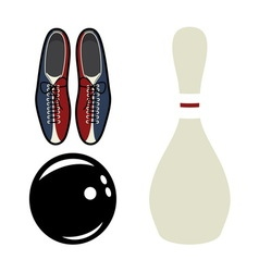 Bowling set2 resize vector