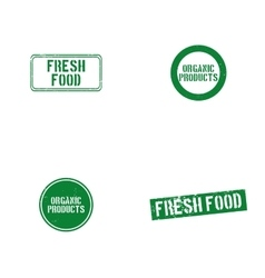 Healthy food labels vector