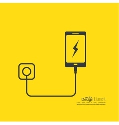 Abstract background with charge mobile phones vector
