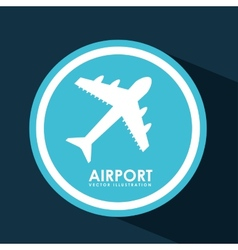 airport signal vector image