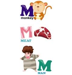 alphabet letter - M vector image