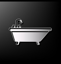 Bathtub sign gray 3d printed vector