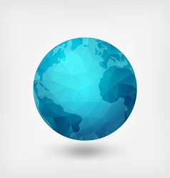blue polygonal planet vector image vector image