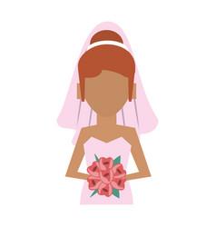 bride avatar icon image vector image