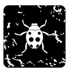 Bug icon grunge style vector