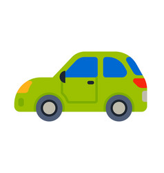 Car vehicle green transport type design travel vector