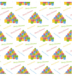 christmas gifts pattern vector image vector image