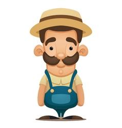 cute farmer vector image
