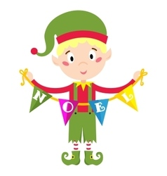 Elf helper vector image vector image