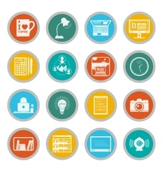 Freelance icons flat set vector