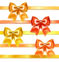 Golden and bronze bows vector image vector image
