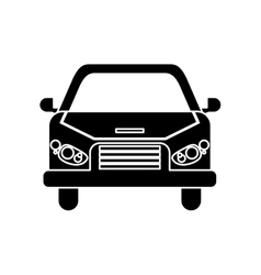 Isolated car vehicle silhouette design vector image vector image