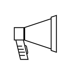 line megaphone object to speaker audio vector image